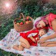 Świnka chudzinka płaska poduszka dla niemowląt. Makaszka. Wzór czerwony kapturek