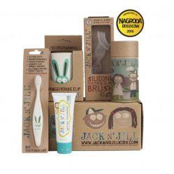 Biodegradowalny Zestaw prezentowy do pielęgnacji dziąseł i zębów KRÓLICZEK. JACK N'JILL