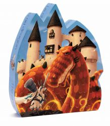 Djeco. Puzzle przedstawiające zamek smoka. 4+
