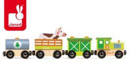 """Janod. """"Farma"""" - drewniany  pociąg"""