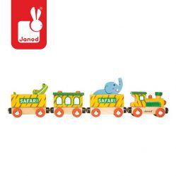 "Janod. ""Safari"" - drewniany  pociąg"