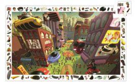 """Djeco. Puzzle obserwacyjne """"Miasto przyszłości"""""""