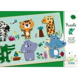 Djeco. Drewniane puzzle - Dżungla