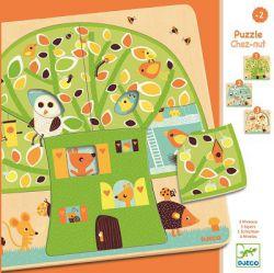 Djeco. Puzzle 3 plansze - Drzewo