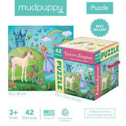 Mudpuppy. Puzzle 42 elementy - Królestwo Jednorożca