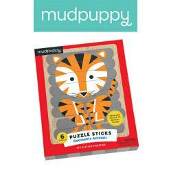 Mudpuppy. Puzzle patyczki - Geometryczne zwierzęta
