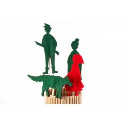 Kukiełki z filcu - Czerwony Kapturek