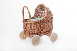 Petit Landau. Wózek Amelie - Naturalny (Wypełnienie: Mięta)