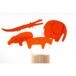 Kukiełki z filcu - zwierzęta sawanny