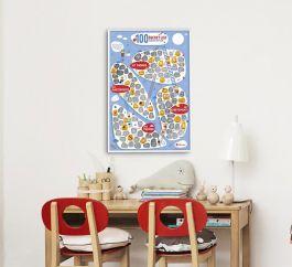 Plakat zdrapka - 100 rzeczy które należy zrobić