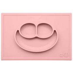 EZPZ Silikonowy talerzyk z podkładką 2w1 Happy Mat (kolor: pastelowy róż)