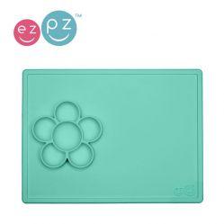 EZPZ Silikonowa mata do zabawy z pojemniczkami 2w1 Flower Play Mat (kolor: miętowa)