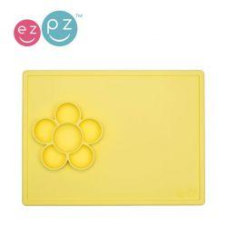 EZPZ Silikonowa mata do zabawy z pojemniczkami 2w1 Flower Play Mat (kolor: żółty)