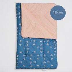 Bim Bla Kołderka niemowlęca z wypełnieniem Orange Blue 75x95 cm