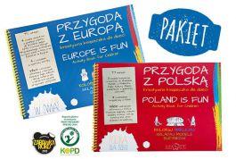 Pakiet Przygoda z Polską + Przygoda z Europą - kreatywna książeczka