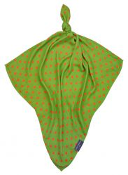 Otulacz bambusowy 120x120 cm Bamboo-line groszki green