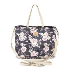 Wodoodporna torba dla mamy do wózka Makaszka Night flowers