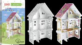 Kolorowanka 3D - Domek tylko dla dziewczynek