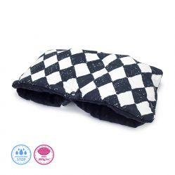 Mufka do wózka - Czarna szachownica