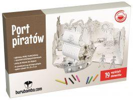 Port Piratów - zabawka z tektury do składania - Burubamba