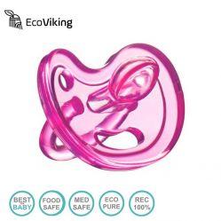 Smoczek Uspokajający Anatomiczny SiliMed Pink Eco Viking 0m+