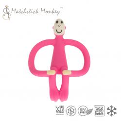 Gryzak Masujący ze Szczoteczką Różowy Matchstick Monkey