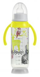 Beaba Butelka antykolkowa z uchwytem 330ml Bunny yellow