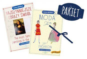 Pakiet kreatywnych teczek: Moda + Najsłynniejsze Obrazy Świata