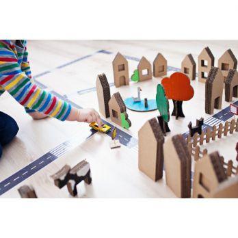 ZESTAW - Domostrada + Domki z kartonu