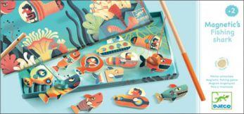 Djeco. Magnetyczna gra w wędkowanie - Rekiny 2+