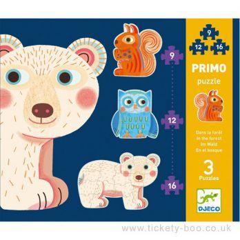 Djeco. Zestaw puzzli (3 plansze) - Las 3+