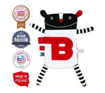 Lullalove. Mr B - termofor-zabawka sensoryczna z wkładem solnym.