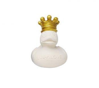 Lullalove. Royal Duck - kaczuszka do kąpieli z naturalnego kauczuku (biała)