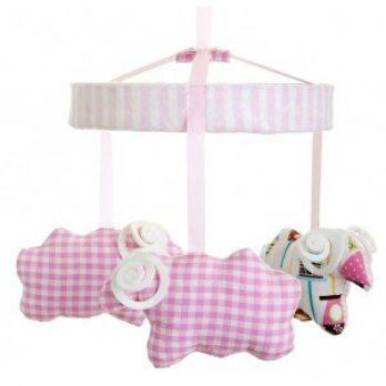 Karuzela nad łóżko - Barany różowe
