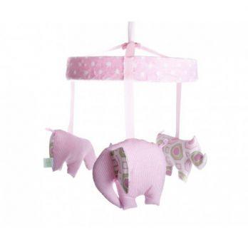 Karuzela nad łóżko - Sawanna różowa