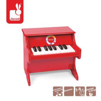 Janod. Instrumenty Confetti - Czerwone pianino