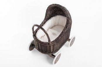 Petit Landau. Wózek Amelie - Szary (Wypełnienie: Krem)