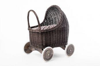 Petit Landau. Wózek Amelie - Szary (Wypełnienie: Groch)