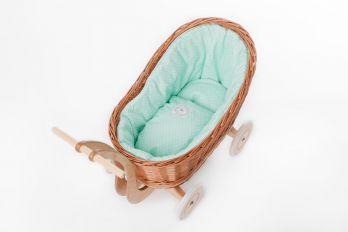 Petit Landau. Wózek Colette - Naturalny (Wypełnienie: Mięta)