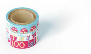 Urodziny - kreatywne taśmy do pakowania prezentów