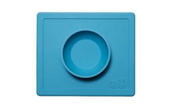 EZPZ Silikonowa miseczka z podkładką 2w1 Happy Bowl (kolor: niebieska)