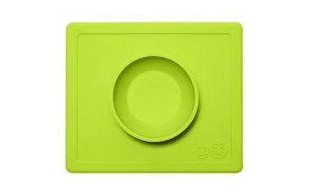 EZPZ Silikonowa miseczka z podkładką 2w1 Happy Bowl (kolor: zielony)