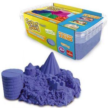 Piasek do modelowania Super Sand - Niebieski