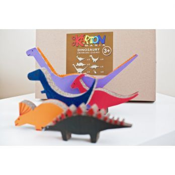 DINOZAURY z kartonu - zwierzaki cudaki