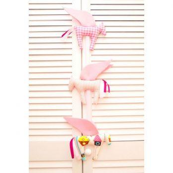 zawieszka dekoracyjna - Pegazy różowe