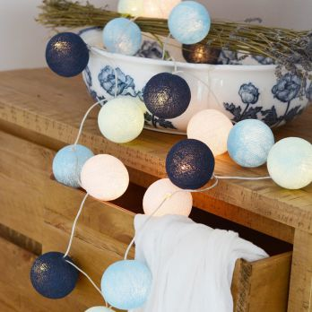 Cotton Balls Lights - BIG BLUE