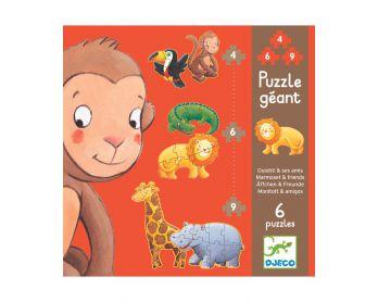 Puzzle Marmoset i przyjaciele Djeco 2+