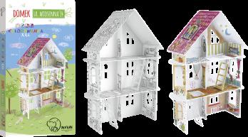 Kolorowanka 3D - Domek tylko dla dziewczynek, Monumi