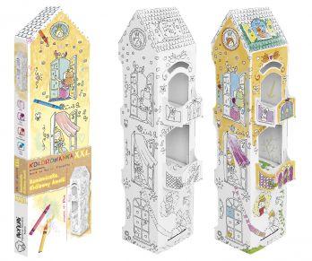 Kolorowanka 3D - Kamieniczka Królewny Amelli