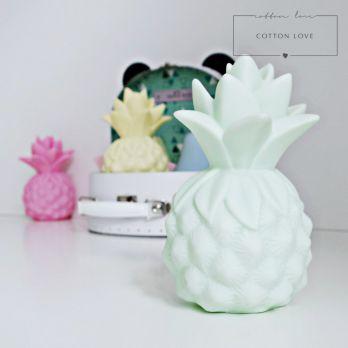 Lampka LED miętowy Ananas. Cotton Love